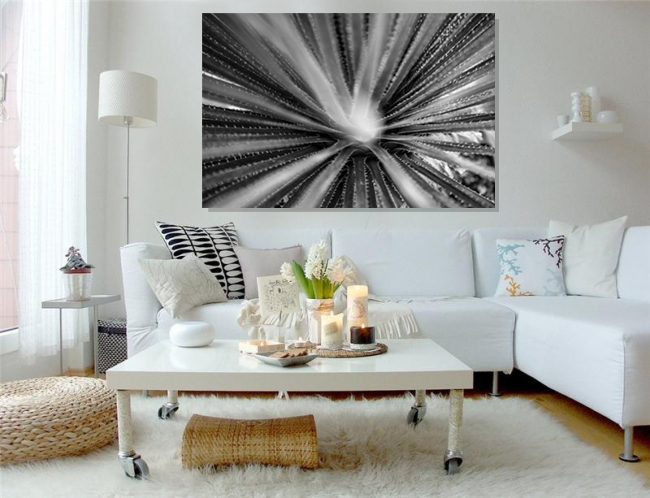 Photography monocrom,Canvas, Fleur, Toile Decoration Contemporaine
