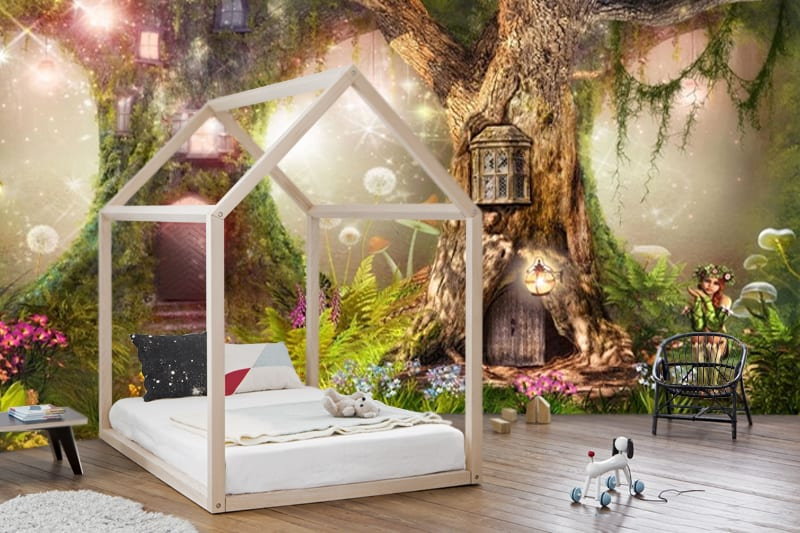 Wallpaper Art Magical Forest Nursery Magic Tree Fairytale Forest