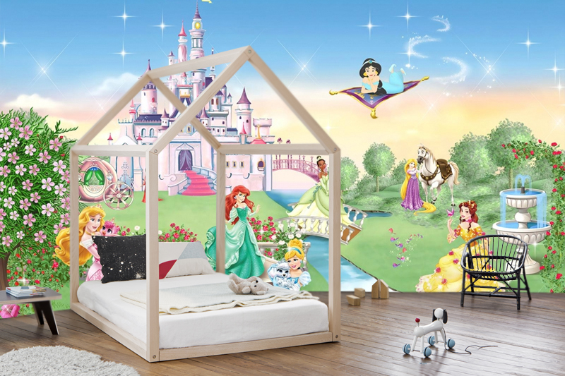 Wallart Wallpaper Decoration Princess Disneynursery Large Photo Wall Mural Adhesive Vinyl