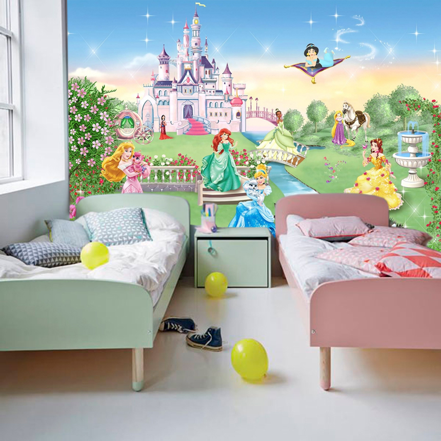 Wallart, Wallpaper, Decoration, Princess Disney,Nursery, Large Photo Wall  Mural, Adhesive Vinyl