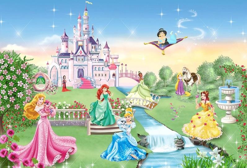 Wall-art Wallpaper, Decoration, Princess Disney,Nursery, Pocahontas,Jasmine,Snow White