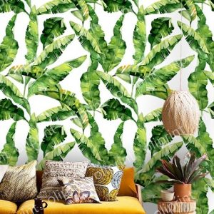 tropical wallpaper oliprint-art wall mural banana leaves