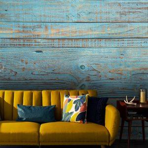 wall mural oliprint art wood texture wallpaper blue wood design