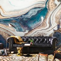 Wallpaper,Adhesive Vinyl,Removable,Abstract Luxury,Sparkles,Peel&Stick,Oriental,Blue,Gold Sequins,Decals,Wall Mural