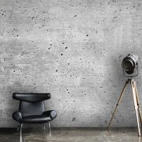 Wallpaper, Industrial Wall Art, Concrete Wall in Gray, Peel and Stick,  Large Photo, Vinyl, Self Adhesive, Wall Mural