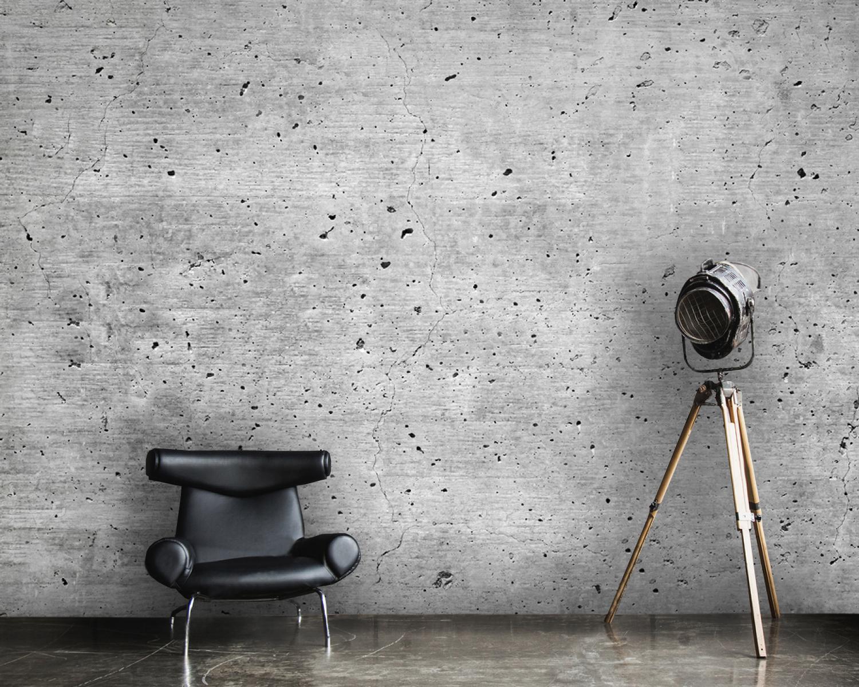 Wallpaper Concrete Industrial Design In Gray Decals Vinyl