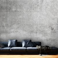 Wallpaper, Concrete Wall in Gray, Industrial Wall Art, Peel and Stick,  Large Photo, Vinyl, Self Adhesive, Wall Mural