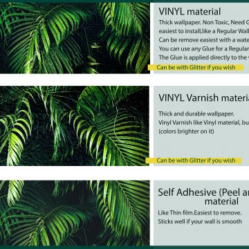 Wallpaper Tropical Palm wall mural oliprint art peel and stick removable vinyl
