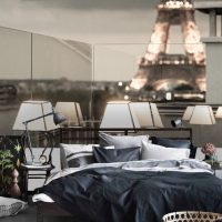 Wallpaper, Paris at Night, The Eiffel Tower, Wall Mural,Peel and Stick, Large Photo, Removable, Adhesive Vinyl