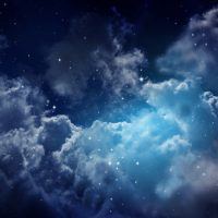 Wallpaper,Night Sky with Clouds,Satrs,Adhesive Vinyl,Decor,Nature,Wall Mural,Peel&Stick,Large Photo,Removable