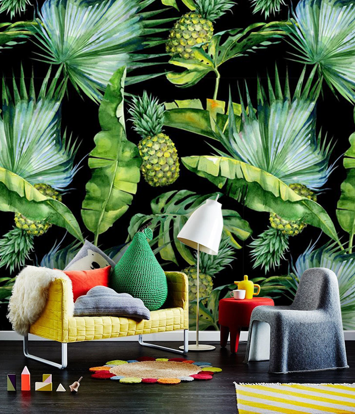 Wallpaper Tropical Foliage Abstract Leaves Photo Vinyl Self Adhesive Choose from over a million free vectors, clipart graphics, vector art images, design templates, and illustrations created by artists worldwide! wallpaper peel stick tropical foliage with ananas watercolor palm leaves decals removable wall mural