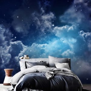 wallpaper wall mural clouds sky night stars mural peel and stick removable decals