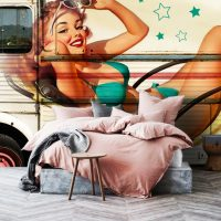 Wallpaper,Graffiti Wall Mural,Pin Up,Sreet Art,Beautiful Woman,Adhesive Vinyl,Decor,Peel&Stick,Large Photo,Removable