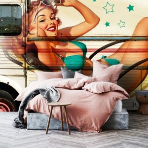 Wallpaper Pin Up Woman Graffiti street Art