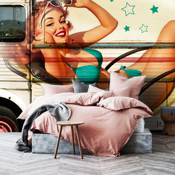 Wallpaper Pin Up Woman Graffiti street Art