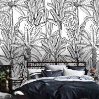 Wallpaper,Banana Trees,Tropical,  Palms,Peel&Stick,  Removable,Vinyl