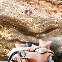 Wallpaper,Adhesive Vinyl,Removable,Abstract Luxury,Sparkles,Peel&Stick,Oriental,Gold Sequins,Decals,Wall Mural