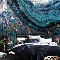 Wallpaper,Adhesive Vinyl,Night Sky,Abstract,Sequins,Peel&Stick,Stars,Blue,Silver,Decals,Removable,Abstract Luxury,Sparkles,Wall Mural