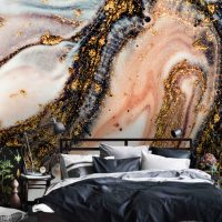 Wallpaper,Adhesive Vinyl,Removable,Abstract Luxury,Sparkles,Peel&Stick,Oriental,Rose,Gold Sequins,Decals,Wall Mural