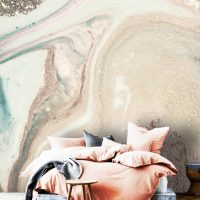 Wallpaper,Sparkles,Beige&Gold,      Abstract,Marbling Art,    Removable,Peel&Stick,Wall Mural