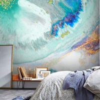 Wallpaper Abstract,Multicolor,Glitter,    Sparkles,Gold&Blue,Water,Marbling,    Removable,Peel&Stick,Wall Mural