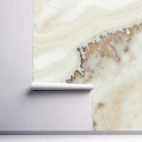Wallpaper Gold&Beige Marbling,   Sparkles,Abstract,  Vinyl,Peel and Stick