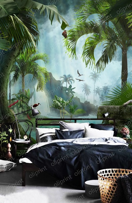 wallpaper wall mural tropical tiger decor tropic wall peel and stick removable