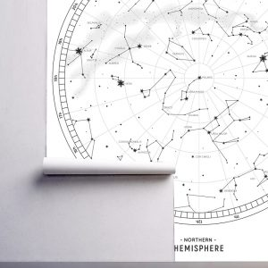 wallpaper constellation stars wall mural zodiac wallpaper black and white graphical peel and stick removable