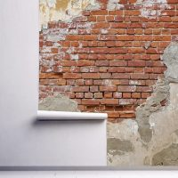 Wallpaper Bricks Wall,   Design,Loft Style,     Vinyl or Self Adhesive