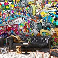 Wallpaper Graffiti,Street Art,  Sport Graffiti,Wall mural Art,   Self Adhesive or Vinyl