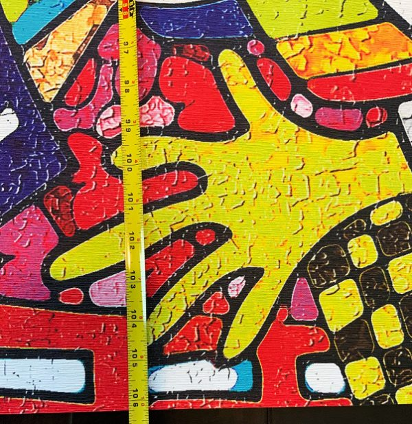 wall mural graffiti wallpaper street art sport multicolor red yellow abstract oliprint art peel and stick removable