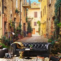 Wallpaper City,   Italy Street,Wall mural Art,Architecture,   Self Adhesive or Vinyl