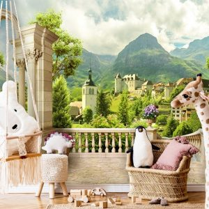 wallpaper 3D wall mural nursery peel and stick nature valley view self adhesive oliprint art