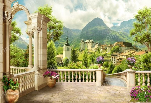 wallpaper 3D wall mural peel and stick nature valley view self adhesive oliprint art