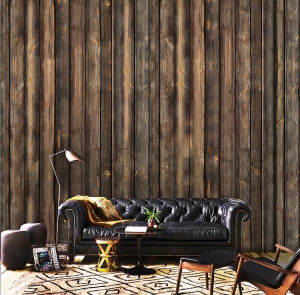 loft wall mural 3D wallpaper wood natural design old wooden mural design oliprint art self adhsive