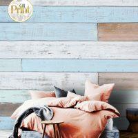 Wallpaper,3D Wall mural,   Blue Wooden Planks, Self Adhesive or Vinyl