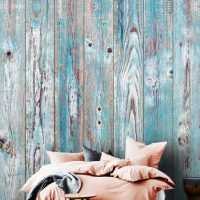 Wallpaper,3D Wall mural,   Wooden Planks,Blue,Old Painted Wood,  Self Adhesive or Vinyl