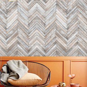 herrinbone wood wallpaper mural removable