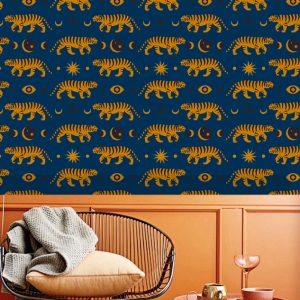 removable wallpaper tiger wall mural living room bedroom peel and stick nursery self adhesive safari